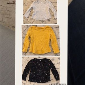 Old Navy Shirts & Tops - Three old navy long sleeve shirts, 2T
